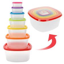 B) fiambreras con tapas de colores Bravissima Kitchen (7 piezas)