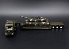 1/87 GERMANY Leopard 2 Main Battle Tank heavy track low loader with panzer metal