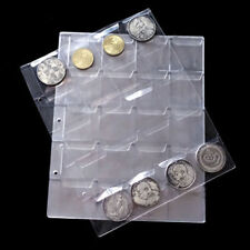 20 Pockets Transparent Plastic Coin Holders Storage Collection Money Album Case