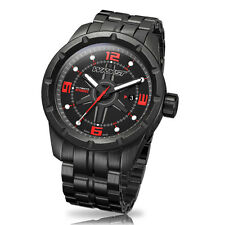 Black Sport Watch With Red Details Wryst Ultimate ES60 Limited Edition Black DLC