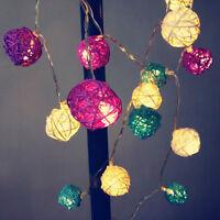 10/20 LED Ball Fairy String Lights Battery Wedding Evening Party Xmas Christmas