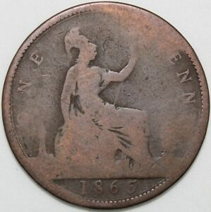 1865   Victoria Penny   Bronze   Coins   KM Coins