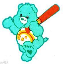 "3.5"" CARE BEARS WISH BEAR CHARACTER NOVELTY FABRIC APPLIQUE IRON ON"