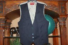 Men's Ted Baker Vest Navy Blue With Striped Back Size 42 R