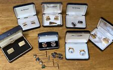 With 4 Vintage Tie Pins Included Vintage Men Cufflinks Lot Of 8,