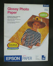 Epson Glossy Photo Paper 52 lbs. Glossy 20 Sheets 8-1/2 x 11 Open Pack S041141