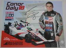 2016 Conor Daly signed Shirts For America Honda Indy 500 Indy Car postcard