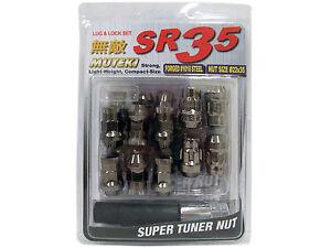 MUTEKI SR35 20PCS WHEELS TUNER LUG + LOCK NUTS (CLOSE END/12X1.25/TITANIUM)
