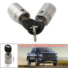 2PCS Door Lock Cylinder with 2 Keys Fit for GMC Chevrolet C1500 Pickup 1988-1994