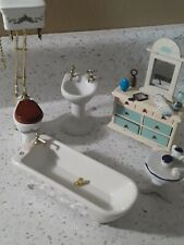 Dollhouse miniatures 1:12 bathroom,furniture and accessories.