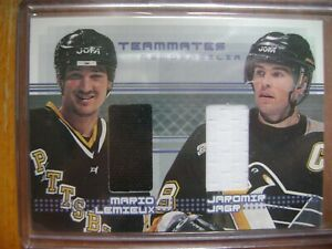 2000-01 BAP Memorabilia Update Teammates TM3 Mario Lemieux Jaromir Jagr Jersey