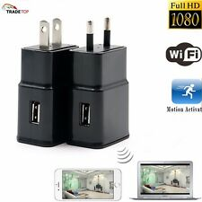 Mini WIFI 1080P 8GB HD SPY DVR Hidden Wall Charger Camera Adapter Plug Nanny Cam
