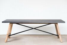 Rustic Industrial Iron dining table - North End - 2.4 METER - 10 seater