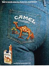 PUBLICITE ADVERTISING 064  1973  CAMEL cigarettes filters