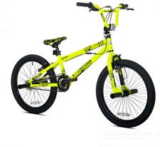 "20"" Chaos Boys' BMX Bike Single Speed Steel Frame Freestyle Stunts Neon Yellow"