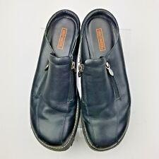 Harley Davidson Women's Mules Clogs Shoes Black Leather Slides Size 9.5M