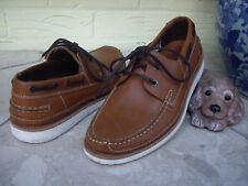 QUALITY TAN LEATHER DECK SHOES LOAFERS BROWN MOCCASIN SHOES  HANDMADE PORTUGAL9
