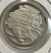 2007 20 cent  proof coin