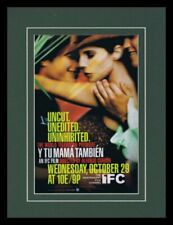 Y Tu Mama Tambien 2003 Ifc Framed 11x14 Original Vintage Advertisement