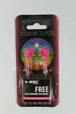 Pink Earphones Color Tunes Vibe Sound In-Ear Headphones