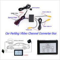 DC12V Car Off-Road Front Rear Parking View Camera Channel Converter Kit NTSC/PAL