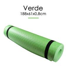 Esterilla Yoga Espeso Antideslizante Anchura 61cm Color Verde Deporte Fitness