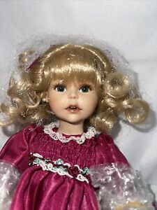 Marie Osmond Tiny Tots- Helena- Holiday Porcelain 8 Inch doll #C24782