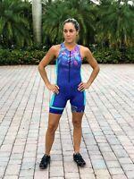 Triathlon HULU Cycling Suit Swim Run Womens Large
