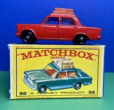 Vintage Matchbox RED No 56 Fiat 1500 with original box