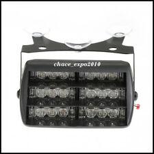 Car 18 LED Amber Police Strobe Flash Light Dash Emergency 3 Flashing Modes 12V