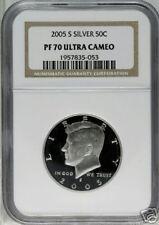 2005-S NGC PF70 UCAM Silver Kennedy Half Dollar