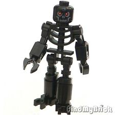 C140H065A Lego Castle Custom Super Skeleton Warrior Minifigure - Black - NEW