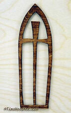 Arched Cross, Baltic Birch Wood Cross, for Wall Hanging or Ornament, Item S3-9