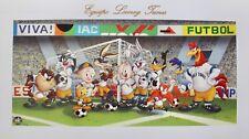 SOCCER TEAM LOONEY TUNES Limited Edition Art Lithograph VIVA FUTBOL (Football)