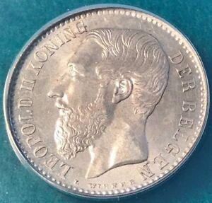 BELGIUM 1 FRANK 1887 AU 58 KM 29.2