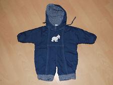 Baby Schneeanzug Winteranzug Wagenanzug Einteiler Overall blau weit öffnen Gr.62