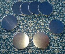 """Circle 1 1/2"""" Raw Stamping Blanks Aluminum 14 Gauge lot 10 pc Round Jewelry Disc"""