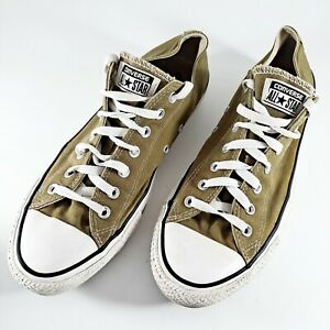 Converse All Star Mens Shoes Sz 11M Olive Green Low Top Casual Sneakers