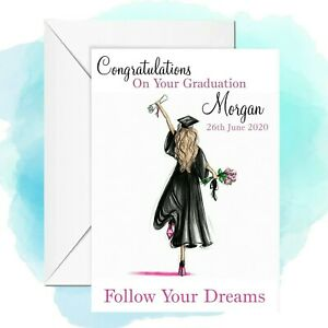 personalised Graduation card any name/relation