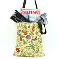 Flower Garden Tapestry Shopping Bag Tote Bag Foldable Reusable Grocery Bag