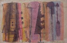 COMPOSITION ABSTRAITE RENE RICHETIN (1923-2008) DATEE 1953 AQUARELLE SUR PAPIER