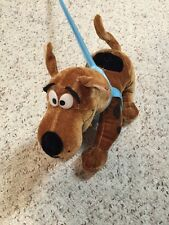 Scooby Doo Six Flags Plush Stuffed Animal Dog with Collar and Leash 12""