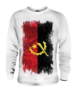 Angola Drapeau Grunge Unisexe Pull Angolais Maillot de Football Cadeau