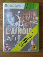 La / L.A. NOIRE PROMO -- XBOX 360 (copia promozionale) FULL GAME ~ ROCKSTAR