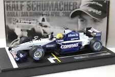 1:18 Hot Wheels Williams F1 R.Schumacher IMOLA 2001 NEW bei PREMIUM-MODELCARS