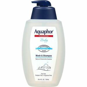 Aquaphor Baby Wash And Shampoo, Clear, 25.4 Fluid Ounce