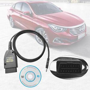 DIAGNOSI VAG COM 19.6 AUTO OBD2 USB CABLE HEX + CAN VW AUDI SEAT SKODA ITALIAN