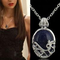 Fashion Blue Stone Pendant The Vampire Diaries Katherine Anti-sunlight Necklace