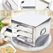3 Tier Drawer Stainless Steel Steamer Pot Rice Noodle Roll Steaming Cooker