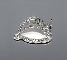 Vintage 1976 Towle 925 Sterling Silver Old Master Ornate Floral Heart Pendant